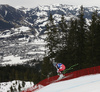 Christian Walder of Austria skiing during men downhill race of the Audi FIS Alpine skiing World cup in Kitzbuehel, Austria. Men downhill race of Audi FIS Alpine skiing World cup 2019-2020, was held on Streif in Kitzbuehel, Austria, on Saturday, 25th of January 2020.