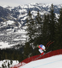 Andreas Sander of Germany skiing during men downhill race of the Audi FIS Alpine skiing World cup in Kitzbuehel, Austria. Men downhill race of Audi FIS Alpine skiing World cup 2019-2020, was held on Streif in Kitzbuehel, Austria, on Saturday, 25th of January 2020.
