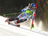 Petra Vlhova of Slovakia skiing during first run of the women slalom race of the Audi FIS Alpine skiing World cup in Kranjska Gora, Slovenia. Women Golden Fox trophy slalom race of Audi FIS Alpine skiing World cup 2019-2020, was transferred from Maribor to Kranjska Gora, Slovenia, and was held on Sunday, 16th of February 2020.