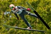 Dawid Kubacki of Poland during the mens Large Hill Individual of FIS Ski Jumping Summer Grand Prix at the Adam Malysz Arena in Wisla, Poland on 2015/08/01.