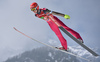 Antti Aalto of Finland during ski flying team competition of the FIS ski jumping World cup in Planica, Slovenia. Ski flying team competition of FIS Ski jumping World cup in Planica, Slovenia, was held on Saturday, 25th of March 2017.