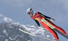 Gregor Deschwanden of Switzerland during ski flying team competition of the FIS ski jumping World cup in Planica, Slovenia. Ski flying team competition of FIS Ski jumping World cup in Planica, Slovenia, was held on Saturday, 25th of March 2017.