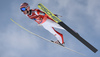 Stefan Kraft of Austria during ski flying team competition of the FIS ski jumping World cup in Planica, Slovenia. Ski flying team competition of FIS Ski jumping World cup in Planica, Slovenia, was held on Saturday, 25th of March 2017.