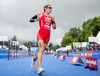 Nicola Spirig (SUI) during the women Elite competition of the Triathlon European Championships at the Schwarzsee in Kitzbuehel, Austria on 20.6.2014.