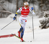 Stina Nilsson of Sweden skiing in qualification for women classic sprint race of Viessmann FIS Cross country skiing World cup in Planica, Slovenia. Women sprint classic race of Viessmann FIS Cross country skiing World cup was held on Saturday, 20th of January 2018 in Planica, Slovenia.