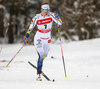 Evelina Settlin of Sweden skiing in qualification for women classic sprint race of Viessmann FIS Cross country skiing World cup in Planica, Slovenia. Women sprint classic race of Viessmann FIS Cross country skiing World cup was held on Saturday, 20th of January 2018 in Planica, Slovenia.