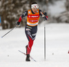 Heidi Weng of Norway skiing in qualification for women classic sprint race of Viessmann FIS Cross country skiing World cup in Planica, Slovenia. Women sprint classic race of Viessmann FIS Cross country skiing World cup was held on Saturday, 20th of January 2018 in Planica, Slovenia.