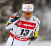 Hanna Falk of Sweden skiing in qualification for women classic sprint race of Viessmann FIS Cross country skiing World cup in Planica, Slovenia. Women sprint classic race of Viessmann FIS Cross country skiing World cup was held on Saturday, 20th of January 2018 in Planica, Slovenia.
