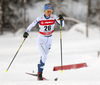 Laura Mononen of Finland skiing in qualification for women classic sprint race of Viessmann FIS Cross country skiing World cup in Planica, Slovenia. Women sprint classic race of Viessmann FIS Cross country skiing World cup was held on Saturday, 20th of January 2018 in Planica, Slovenia.