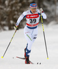 Aino-Kaisa Saarinen of Finland skiing in qualification for women classic sprint race of Viessmann FIS Cross country skiing World cup in Planica, Slovenia. Women sprint classic race of Viessmann FIS Cross country skiing World cup was held on Saturday, 20th of January 2018 in Planica, Slovenia.
