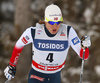 Kasper Stadaas of Norway skiing in qualification for men classic sprint race of Viessmann FIS Cross country skiing World cup in Planica, Slovenia. Men sprint classic race of Viessmann FIS Cross country skiing World cup was held on Saturday, 20th of January 2018 in Planica, Slovenia.