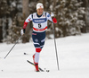 Eirik Brandsdal of Norway skiing in qualification for men classic sprint race of Viessmann FIS Cross country skiing World cup in Planica, Slovenia. Men sprint classic race of Viessmann FIS Cross country skiing World cup was held on Saturday, 20th of January 2018 in Planica, Slovenia.