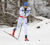 Lauri Vuorinen of Finland skiing in qualification for men classic sprint race of Viessmann FIS Cross country skiing World cup in Planica, Slovenia. Men sprint classic race of Viessmann FIS Cross country skiing World cup was held on Saturday, 20th of January 2018 in Planica, Slovenia.