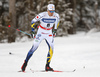 Calle Halfvarsson of Sweden skiing in qualification for men classic sprint race of Viessmann FIS Cross country skiing World cup in Planica, Slovenia. Men sprint classic race of Viessmann FIS Cross country skiing World cup was held on Saturday, 20th of January 2018 in Planica, Slovenia.