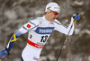 Teodor Peterson of Sweden skiing in qualification for men classic sprint race of Viessmann FIS Cross country skiing World cup in Planica, Slovenia. Men sprint classic race of Viessmann FIS Cross country skiing World cup was held on Saturday, 20th of January 2018 in Planica, Slovenia.
