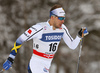 Emil Joensson of Sweden skiing in qualification for men classic sprint race of Viessmann FIS Cross country skiing World cup in Planica, Slovenia. Men sprint classic race of Viessmann FIS Cross country skiing World cup was held on Saturday, 20th of January 2018 in Planica, Slovenia.