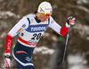 Emil Iversen of Norway skiing in qualification for men classic sprint race of Viessmann FIS Cross country skiing World cup in Planica, Slovenia. Men sprint classic race of Viessmann FIS Cross country skiing World cup was held on Saturday, 20th of January 2018 in Planica, Slovenia.