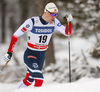 Fredrik Riseth of Norway skiing in qualification for men classic sprint race of Viessmann FIS Cross country skiing World cup in Planica, Slovenia. Men sprint classic race of Viessmann FIS Cross country skiing World cup was held on Saturday, 20th of January 2018 in Planica, Slovenia.
