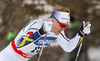 Oskar Svensson of Sweden skiing in qualification for men classic sprint race of Viessmann FIS Cross country skiing World cup in Planica, Slovenia. Men sprint classic race of Viessmann FIS Cross country skiing World cup was held on Saturday, 20th of January 2018 in Planica, Slovenia.