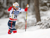 Sindre Bjoernestad Skar of Norway skiing in qualification for men classic sprint race of Viessmann FIS Cross country skiing World cup in Planica, Slovenia. Men sprint classic race of Viessmann FIS Cross country skiing World cup was held on Saturday, 20th of January 2018 in Planica, Slovenia.