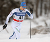 Toni Ketelae of Finland skiing in qualification for men classic sprint race of Viessmann FIS Cross country skiing World cup in Planica, Slovenia. Men sprint classic race of Viessmann FIS Cross country skiing World cup was held on Saturday, 20th of January 2018 in Planica, Slovenia.