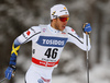 Marcus Hellner of Sweden skiing in qualification for men classic sprint race of Viessmann FIS Cross country skiing World cup in Planica, Slovenia. Men sprint classic race of Viessmann FIS Cross country skiing World cup was held on Saturday, 20th of January 2018 in Planica, Slovenia.