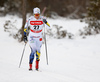 Hanna Falk of Sweden skiing in women 10km classic race of Viessmann FIS Cross country skiing World cup in Planica, Slovenia. Women 10km classic race of Viessmann FIS Cross country skiing World cup was held on Sunday, 21st of January 2018 in Planica, Slovenia.