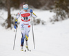 Ebba Andersson of Sweden skiing in women 10km classic race of Viessmann FIS Cross country skiing World cup in Planica, Slovenia. Women 10km classic race of Viessmann FIS Cross country skiing World cup was held on Sunday, 21st of January 2018 in Planica, Slovenia.