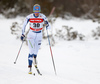 Anne Kylloenen of Finland skiing in women 10km classic race of Viessmann FIS Cross country skiing World cup in Planica, Slovenia. Women 10km classic race of Viessmann FIS Cross country skiing World cup was held on Sunday, 21st of January 2018 in Planica, Slovenia.