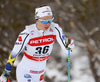 Emma Wiken of Sweden skiing in women 10km classic race of Viessmann FIS Cross country skiing World cup in Planica, Slovenia. Women 10km classic race of Viessmann FIS Cross country skiing World cup was held on Sunday, 21st of January 2018 in Planica, Slovenia.