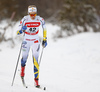 Stina Nilsson of Sweden skiing in women 10km classic race of Viessmann FIS Cross country skiing World cup in Planica, Slovenia. Women 10km classic race of Viessmann FIS Cross country skiing World cup was held on Sunday, 21st of January 2018 in Planica, Slovenia.