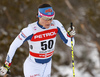 Aino-Kaisa Saarinen of Finland skiing in women 10km classic race of Viessmann FIS Cross country skiing World cup in Planica, Slovenia. Women 10km classic race of Viessmann FIS Cross country skiing World cup was held on Sunday, 21st of January 2018 in Planica, Slovenia.