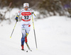 Charlotte Kalla of Sweden skiing in women 10km classic race of Viessmann FIS Cross country skiing World cup in Planica, Slovenia. Women 10km classic race of Viessmann FIS Cross country skiing World cup was held on Sunday, 21st of January 2018 in Planica, Slovenia.