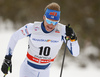 Ville Nousiainen of Finland skiing in men 15km classic race of Viessmann FIS Cross country skiing World cup in Planica, Slovenia. Men 15km classic race of Viessmann FIS Cross country skiing World cup was held on Sunday, 21st of January 2018 in Planica, Slovenia.