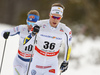 Viktor Thorn of Sweden (36) and Ville Nousiainen of Finland (10) skiing in men 15km classic race of Viessmann FIS Cross country skiing World cup in Planica, Slovenia. Men 15km classic race of Viessmann FIS Cross country skiing World cup was held on Sunday, 21st of January 2018 in Planica, Slovenia.