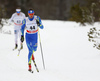 Alexey Poltoranin of Kazakhstan skiing in men 15km classic race of Viessmann FIS Cross country skiing World cup in Planica, Slovenia. Men 15km classic race of Viessmann FIS Cross country skiing World cup was held on Sunday, 21st of January 2018 in Planica, Slovenia.