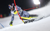 Alexis Pinturault of France skiing in the first run of the men The Nightrace, night slalom race of the Audi FIS Alpine skiing World cup in Schladming, Austria. Men slalom race of the Audi FIS Alpine skiing World cup was held in Schladming, Austria, on Tuesday, 23rd of January 2018.
