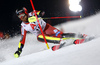 Leif Kristian Nestvold-Haugen of Norway skiing in the first run of the men The Nightrace, night slalom race of the Audi FIS Alpine skiing World cup in Schladming, Austria. Men slalom race of the Audi FIS Alpine skiing World cup was held in Schladming, Austria, on Tuesday, 23rd of January 2018.